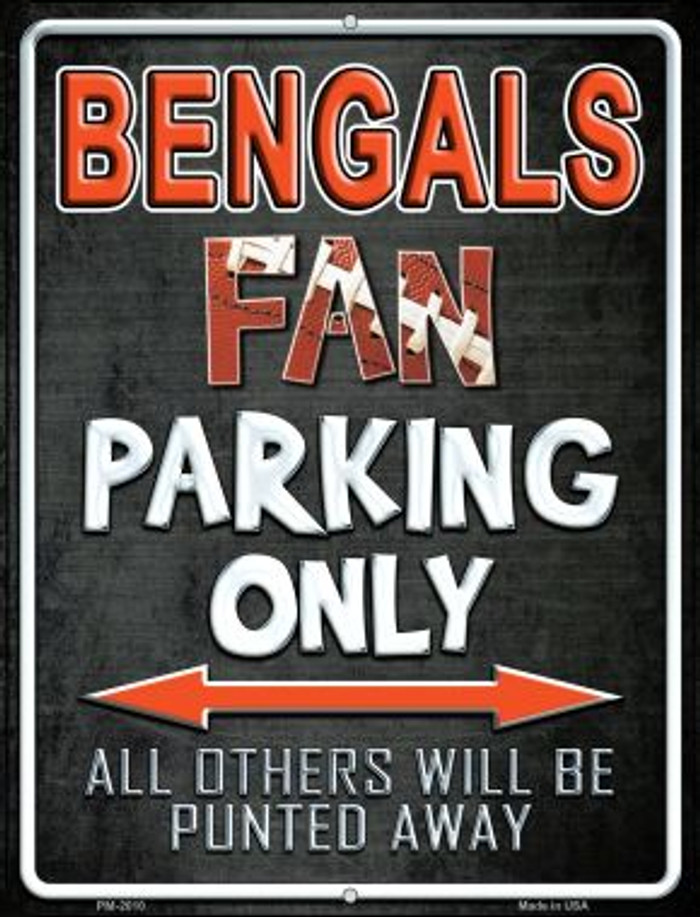 Bengals Novelty Mini Metal Parking Sign PM-2010