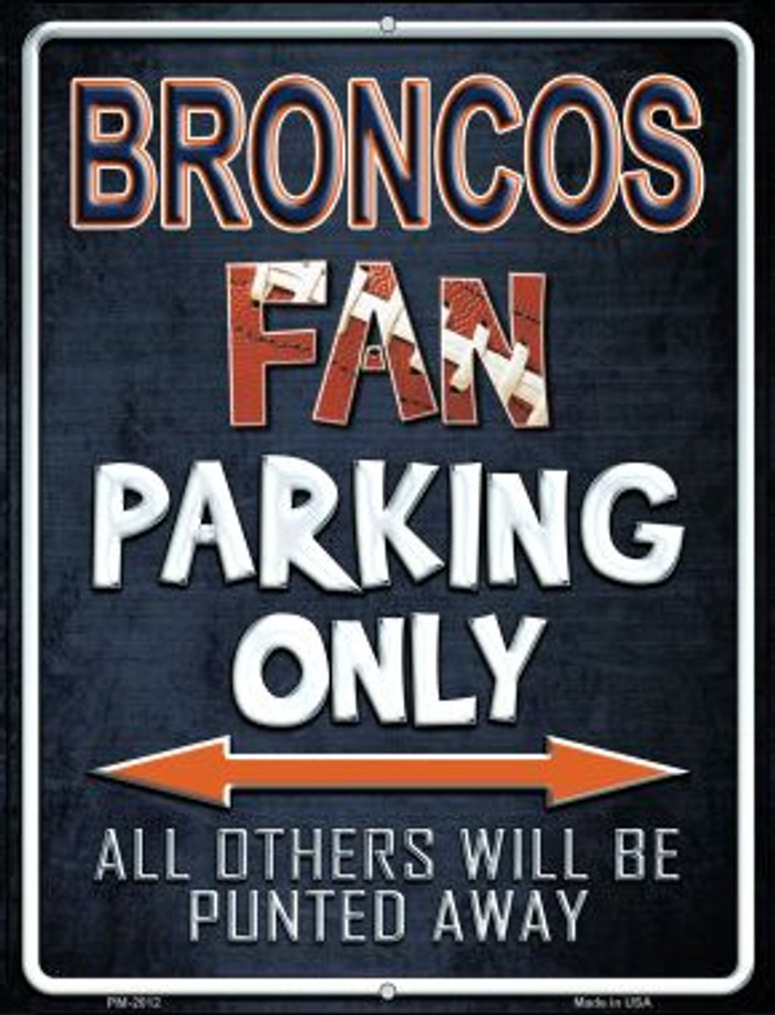 Broncos Novelty Mini Metal Parking Sign PM-2012