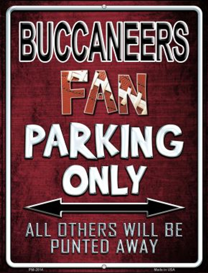 Buccaneers Novelty Mini Metal Parking Sign PM-2014