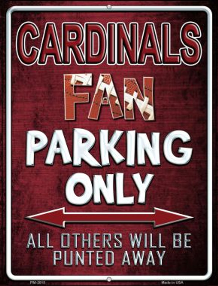 Cardinals Novelty Mini Metal Parking Sign PM-2015