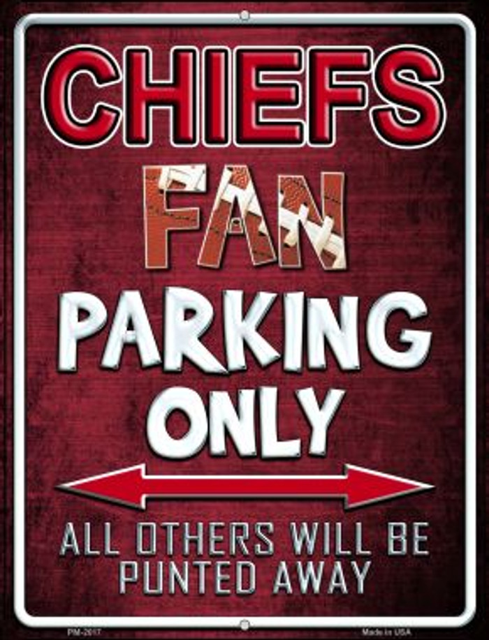 Chiefs Novelty Mini Metal Parking Sign PM-2017