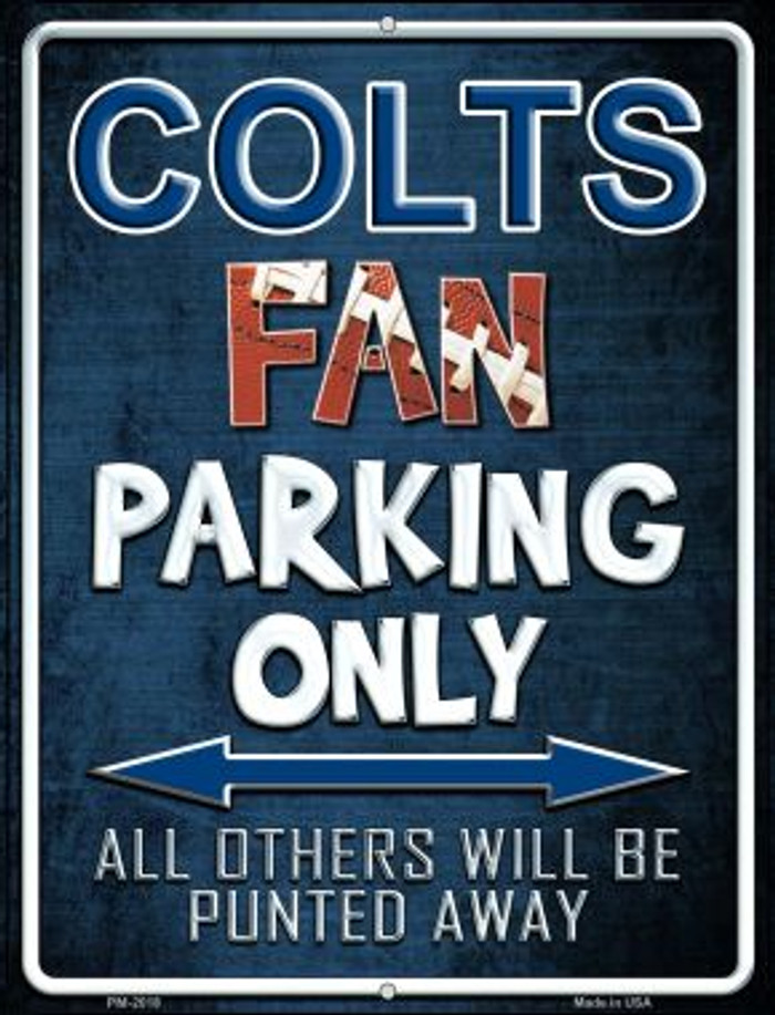 Colts Novelty Mini Metal Parking Sign PM-2018