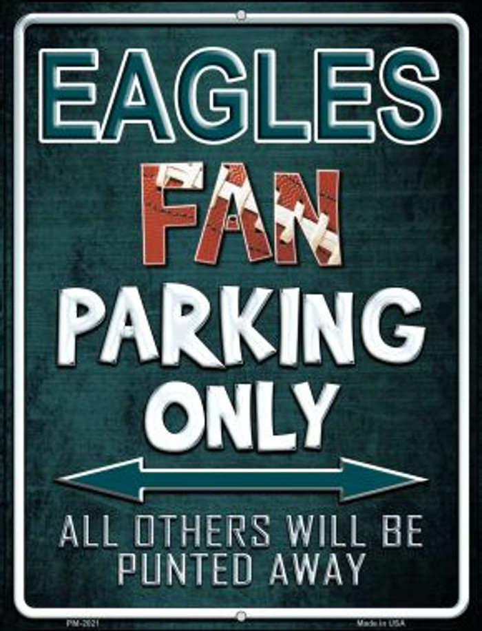 Eagles Novelty Mini Metal Parking Sign PM-2021