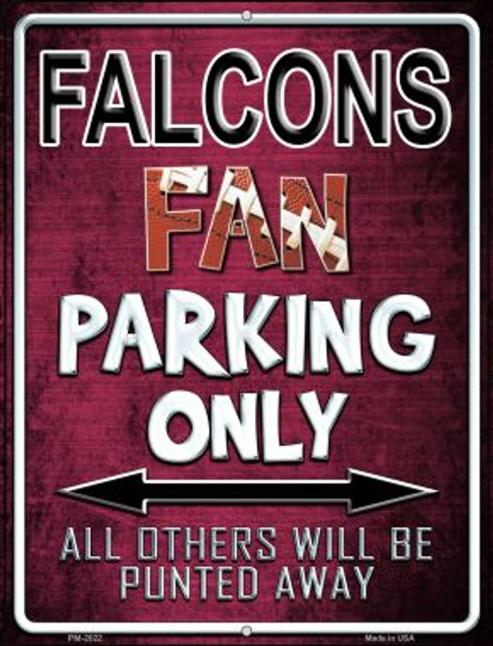 Falcons Novelty Mini Metal Parking Sign PM-2022