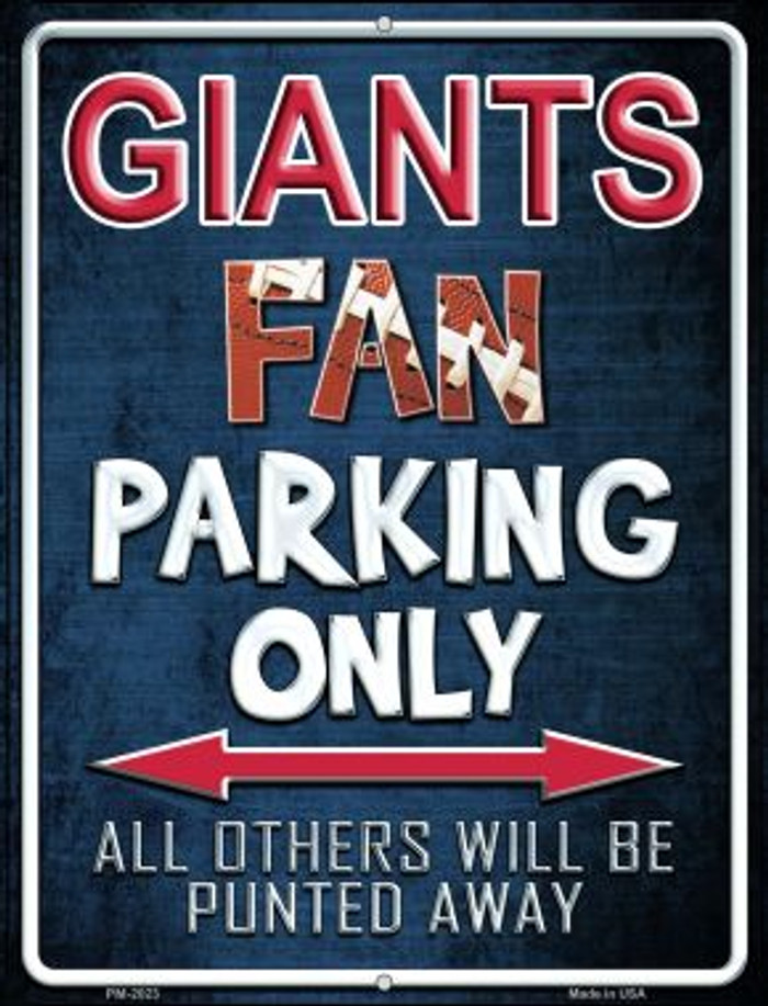 Giants Novelty Mini Metal Parking Sign PM-2023