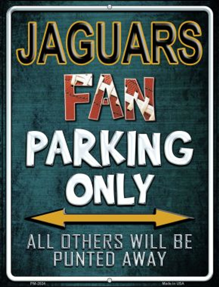Jaguars Novelty Mini Metal Parking Sign PM-2024
