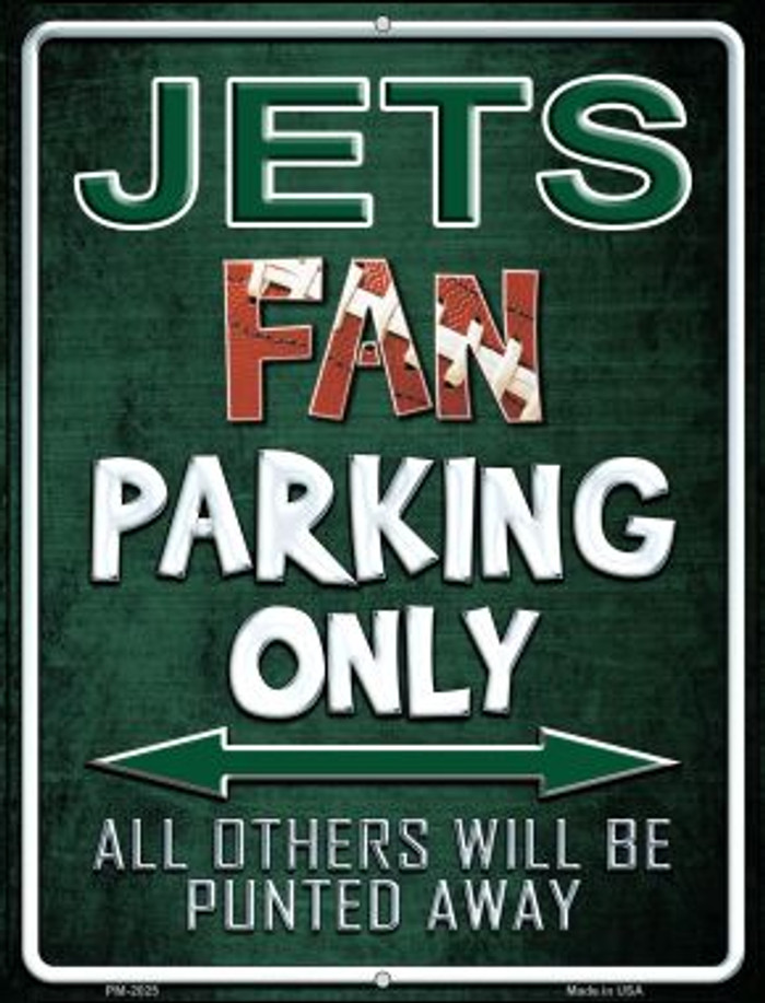 Jets Novelty Mini Metal Parking Sign PM-2025