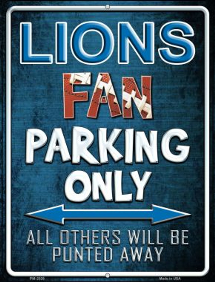 Lions Novelty Mini Metal Parking Sign PM-2026