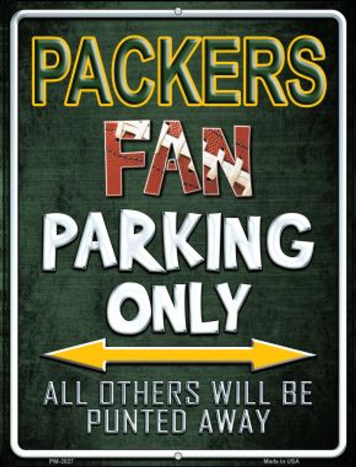 Packers Novelty Mini Metal Parking Sign PM-2027