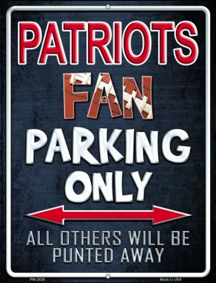 Patriots Novelty Mini Metal Parking Sign PM-2029