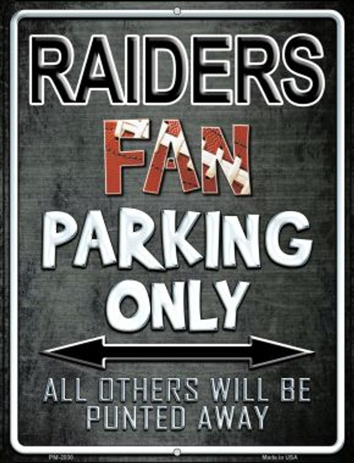 Raiders Novelty Mini Metal Parking Sign PM-2030