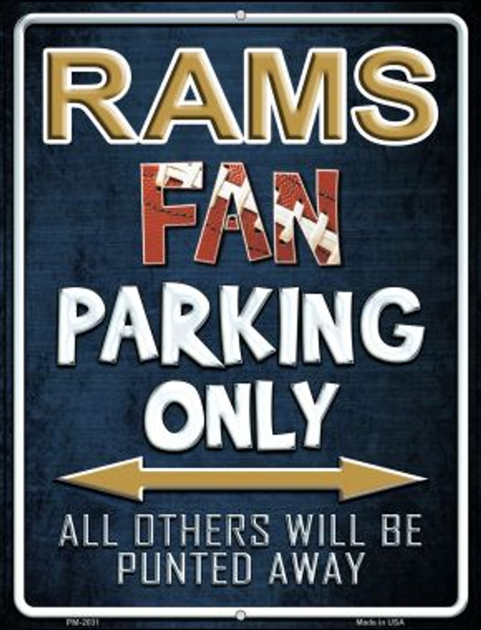 Rams Novelty Mini Metal Parking Sign PM-2031