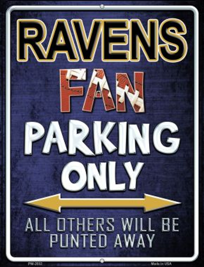 Ravens Novelty Mini Metal Parking Sign PM-2032