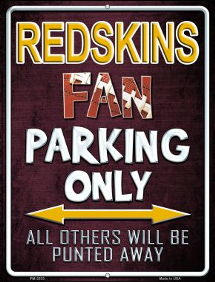 Redskins Novelty Mini Metal Parking Sign PM-2033
