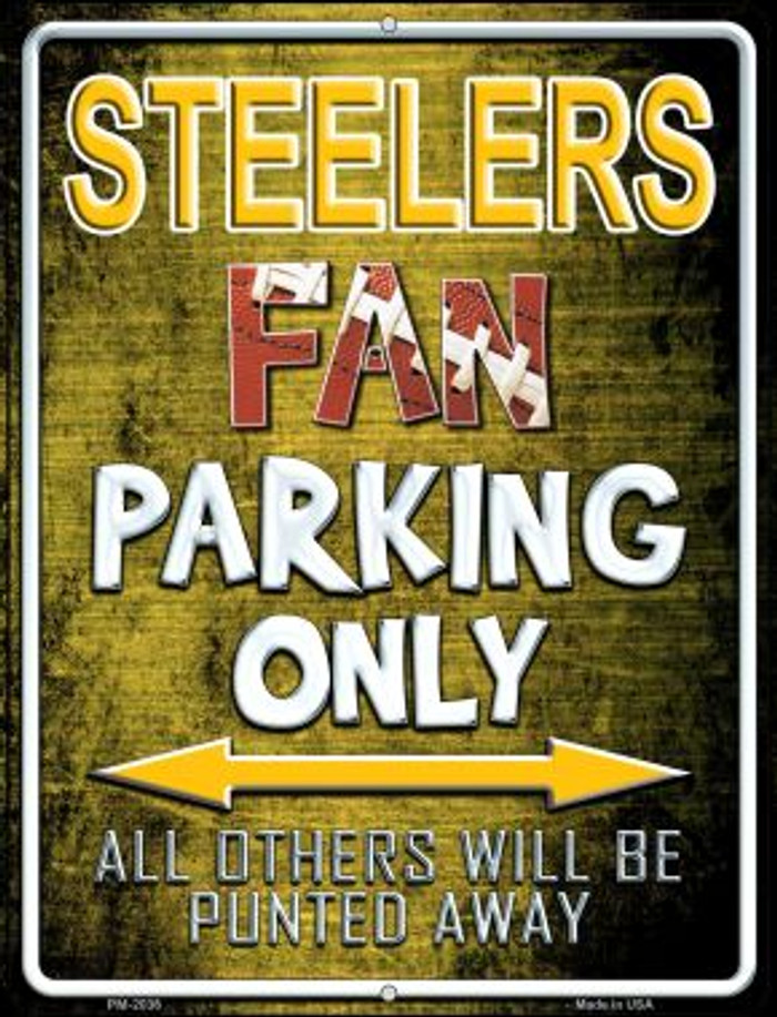 Steelers Novelty Mini Metal Parking Sign PM-2036
