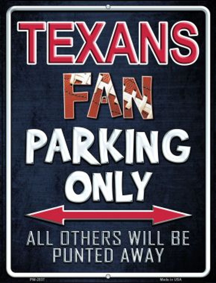 Texans Novelty Mini Metal Parking Sign PM-2037