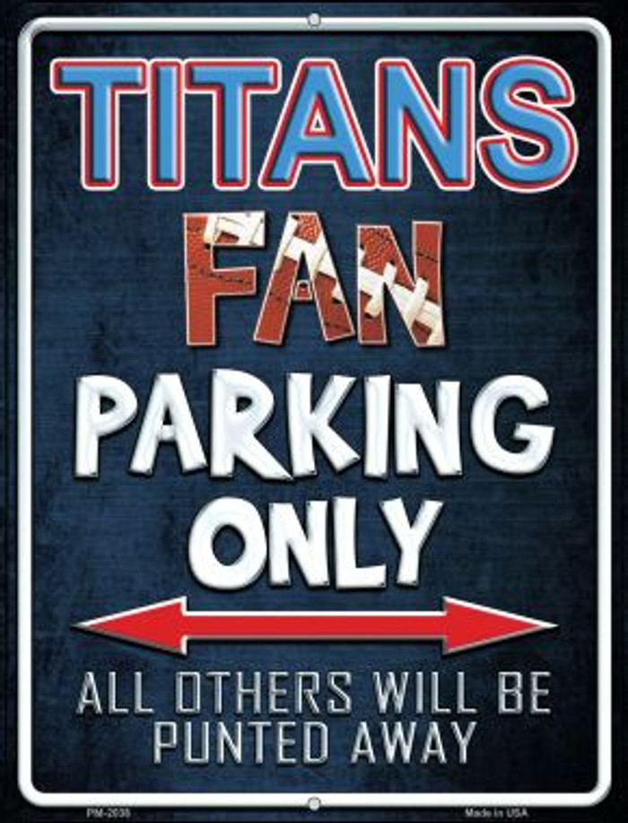 Titans Novelty Mini Metal Parking Sign PM-2038