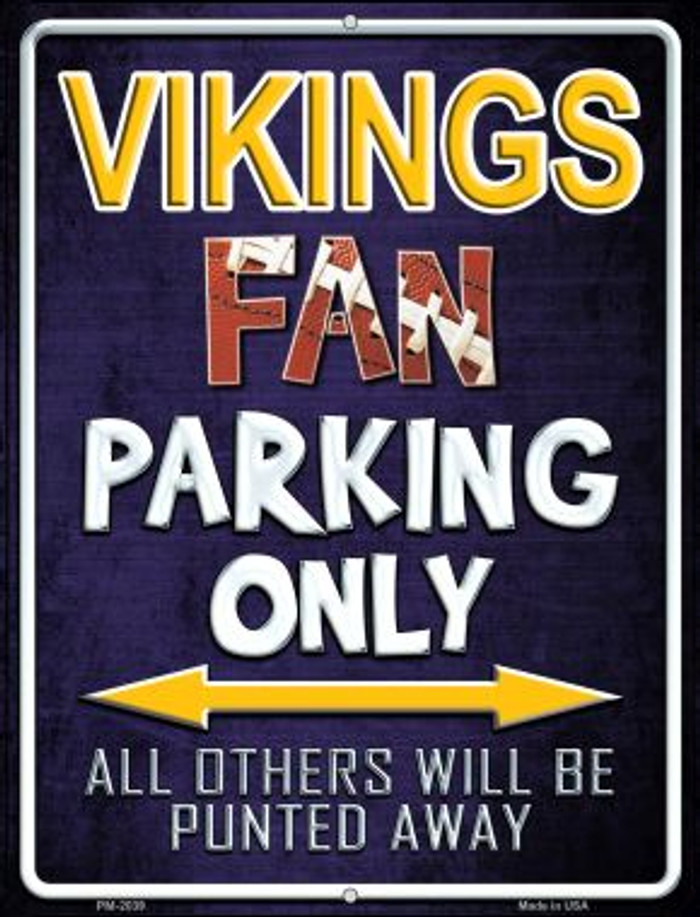 Vikings Novelty Mini Metal Parking Sign PM-2039