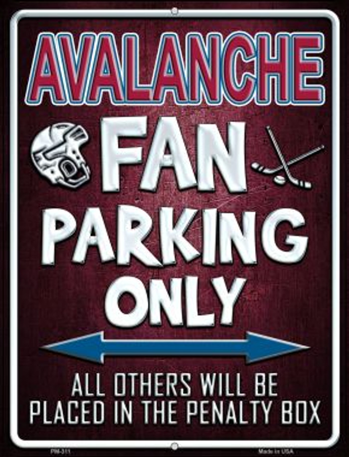Avalanche Novelty Mini Metal Parking Sign PM-311