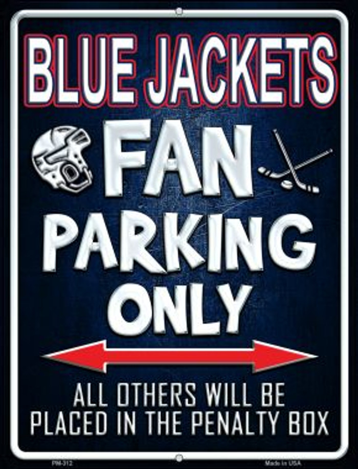 Blue Jackets Novelty Mini Metal Parking Sign PM-312