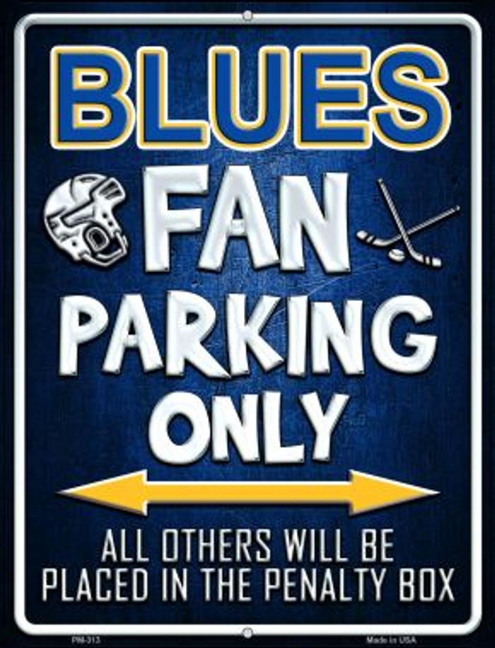 Blues Novelty Mini Metal Parking Sign PM-313