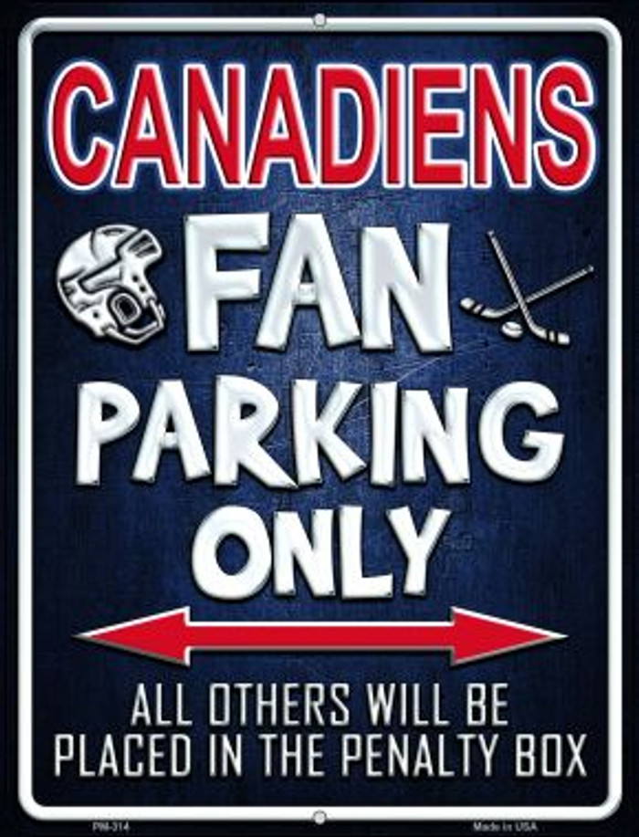 Canadiens Novelty Mini Metal Parking Sign PM-314