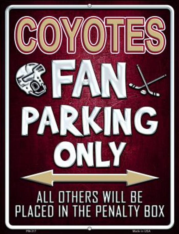 Coyotes Novelty Mini Metal Parking Sign PM-317