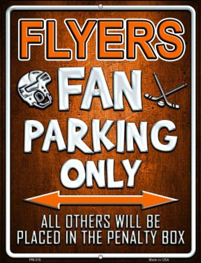 Flyers Novelty Mini Metal Parking Sign PM-319