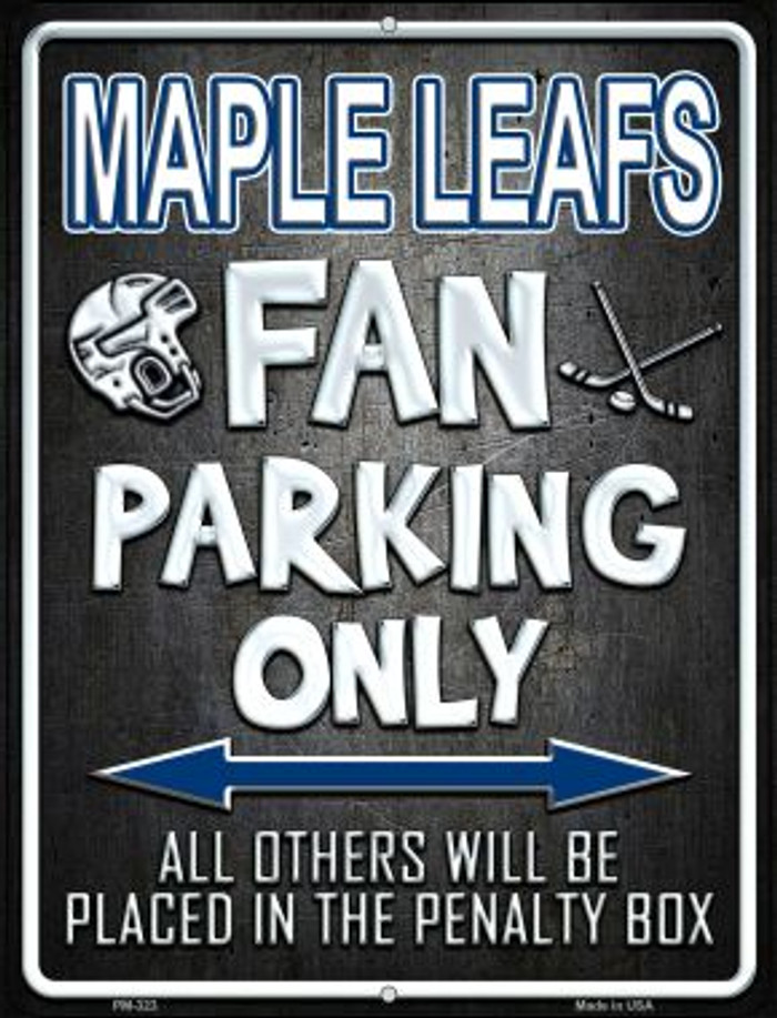 Maple Leafs Novelty Mini Metal Parking Sign PM-323