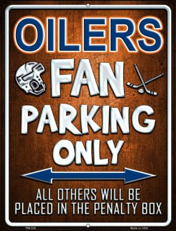 Oilers Novelty Mini Metal Parking Sign PM-324
