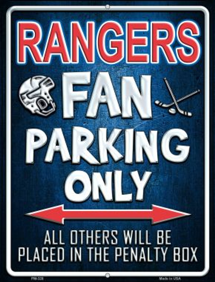 Rangers Novelty Mini Metal Parking Sign PM-328
