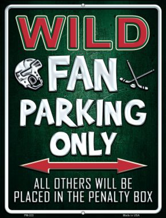 Wild Novelty Mini Metal Parking Sign PM-333