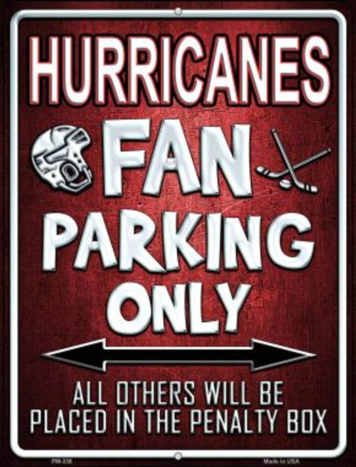 Hurricanes Novelty Mini Metal Parking Sign PM-336