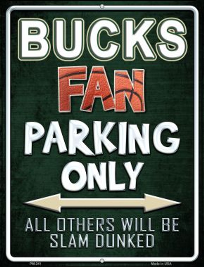 Bucks Novelty Mini Metal Parking Sign PM-241