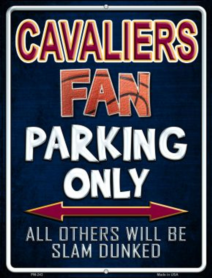 Cavaliers Novelty Mini Metal Parking Sign PM-243