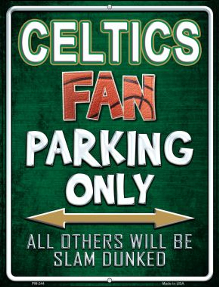 Celtics Novelty Mini Metal Parking Sign PM-244