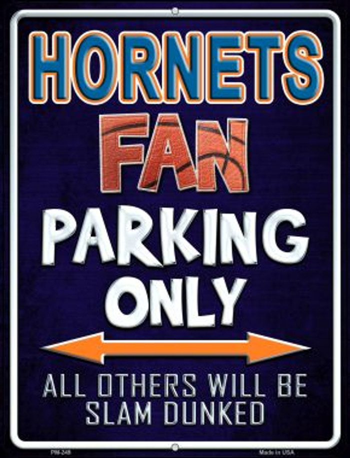 Hornets Novelty Mini Metal Parking Sign PM-249