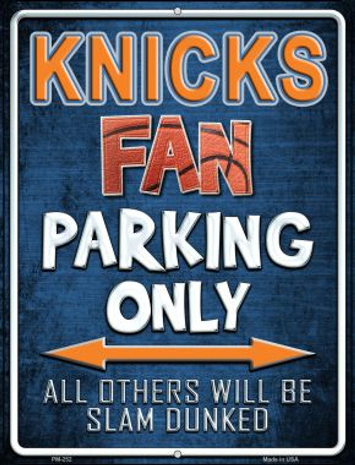 Knicks Novelty Mini Metal Parking Sign PM-252