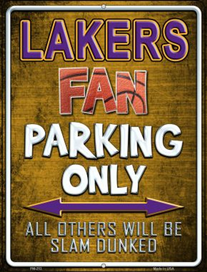 Lakers Novelty Mini Metal Parking Sign PM-253