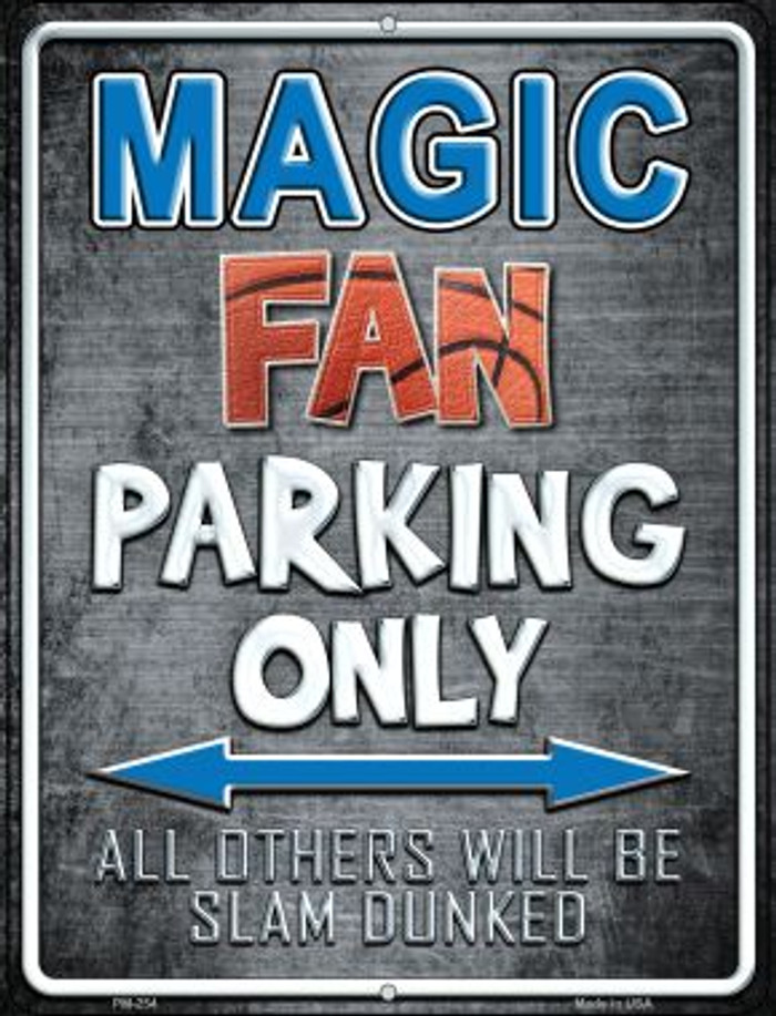 Magic Novelty Mini Metal Parking Sign PM-254