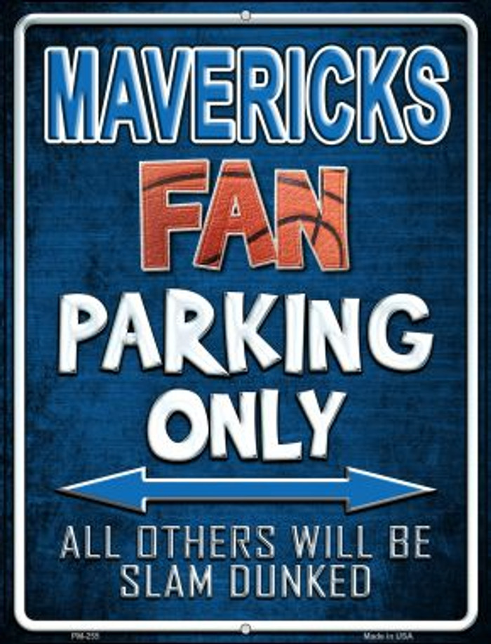 Mavericks Novelty Mini Metal Parking Sign PM-255