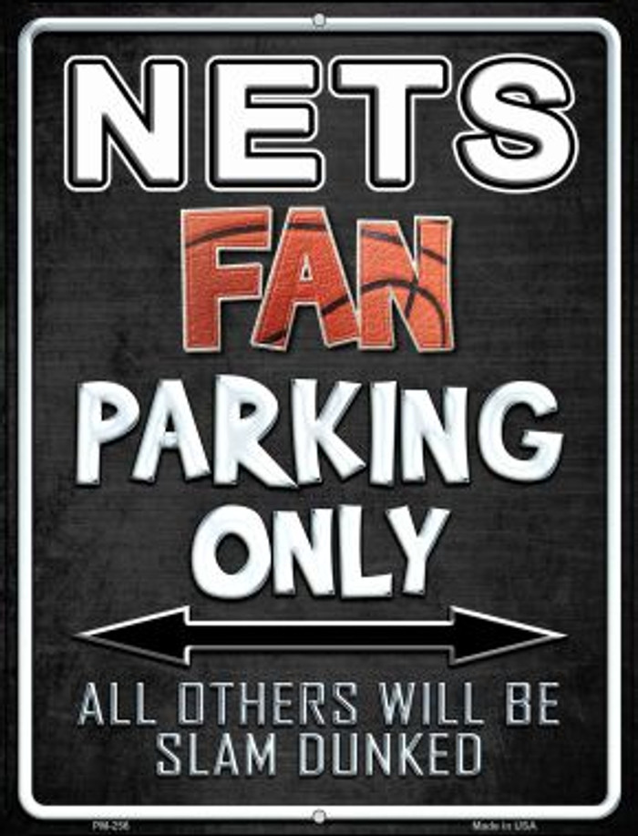 Nets Novelty Mini Metal Parking Sign PM-256