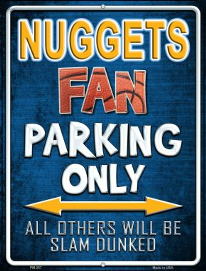 Nuggets Novelty Mini Metal Parking Sign PM-257