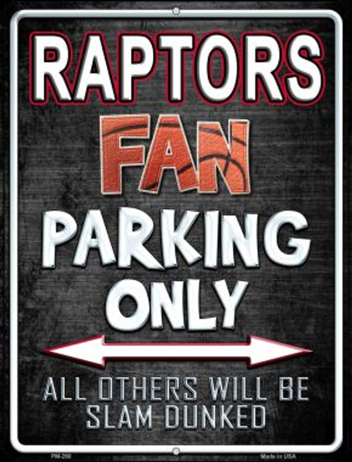 Raptors Novelty Mini Metal Parking Sign PM-260