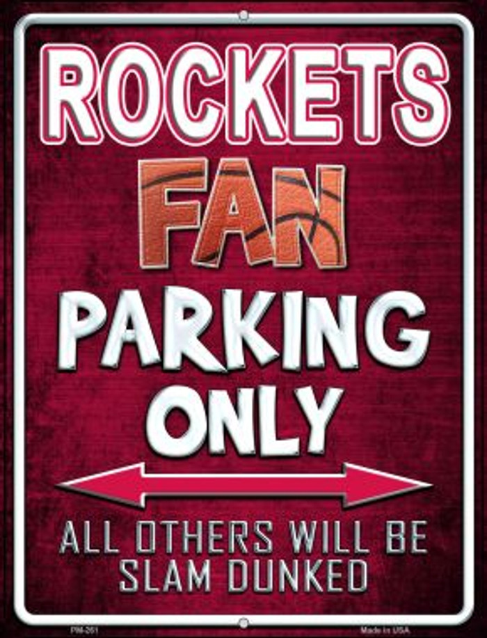 Rockets Novelty Mini Metal Parking Sign PM-261