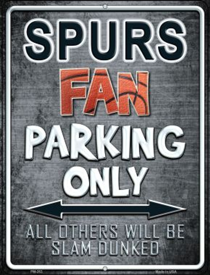 Spurs Novelty Mini Metal Parking Sign PM-263