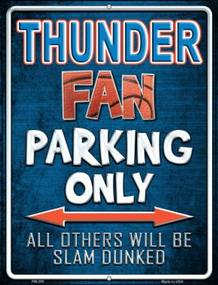 Thunder Novelty Mini Metal Parking Sign PM-265