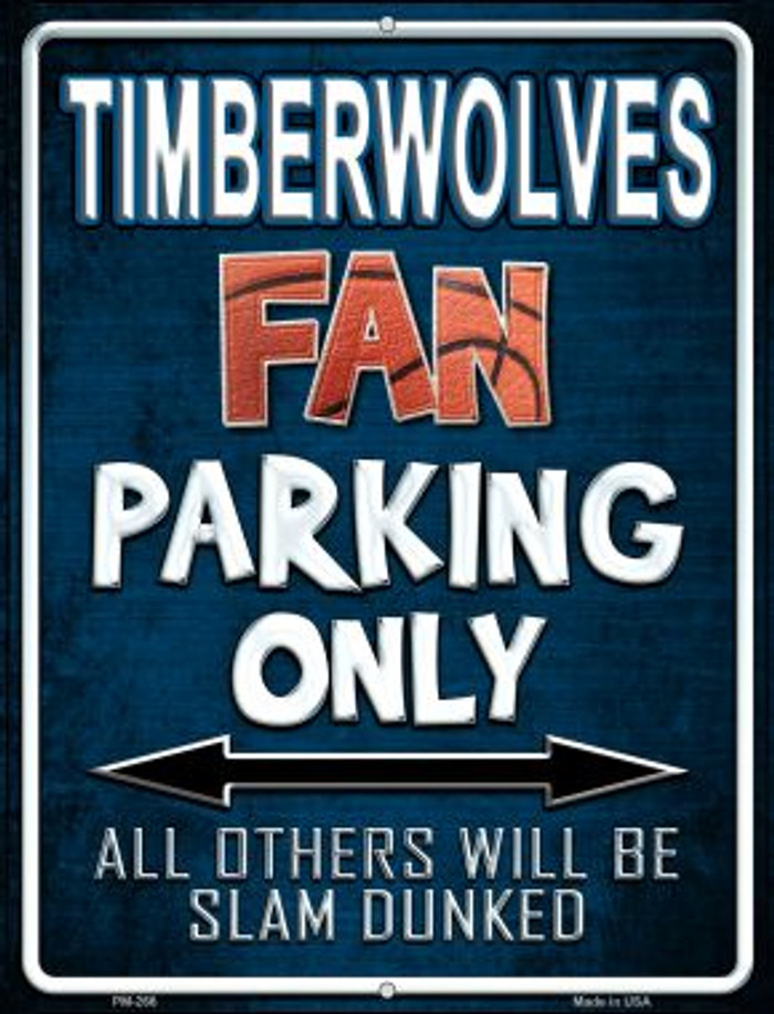 Timberwolves Novelty Mini Metal Parking Sign PM-266