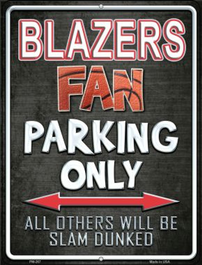 Trail Blazers Novelty Mini Metal Parking Sign PM-267