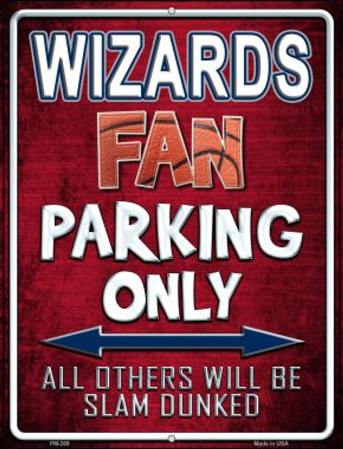 Wizards Novelty Mini Metal Parking Sign PM-269